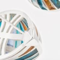 Chaloupes, un bijou de Clémentine Correzzola, Bijoutière émailleuse – Enamelling jewelry
